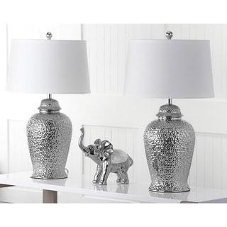 Safavieh Lighting 27.75-inch Silver Sterling Ginger Jar Lamp (Set of 2)