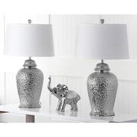 Safavieh Lighting 27.75-inch Silver Sterling Ginger Jar Lamp (Set of 2)
