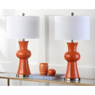 Safavieh Lighting 30-inch Orange Lola Column Lamp (Set of 2)