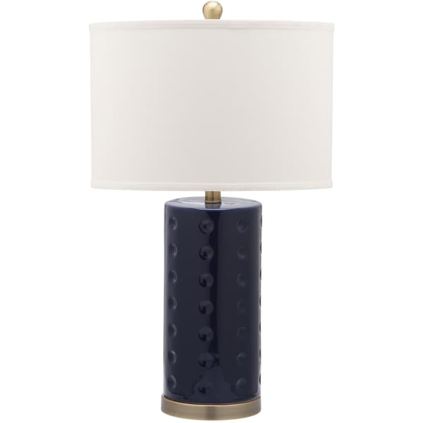 Safavieh Lighting 26-inch Navy Roxanne Table L& (Set of 2) - Free Shipping Today - Overstock.com - 16240797  sc 1 st  Overstock & Safavieh Lighting 26-inch Navy Roxanne Table Lamp (Set of 2 ... azcodes.com