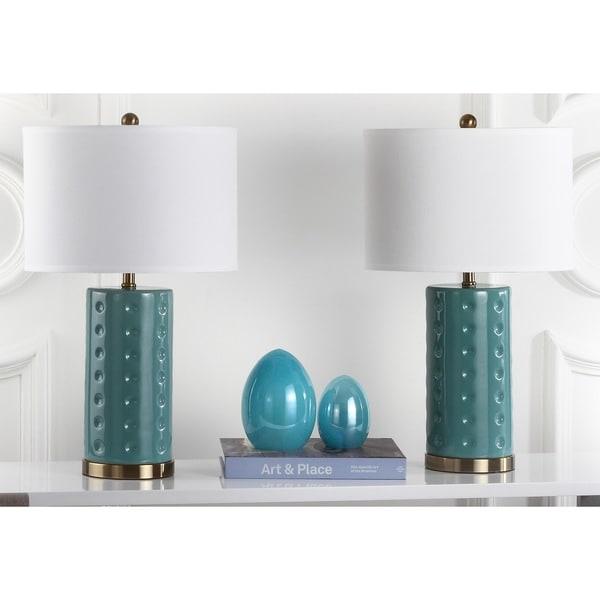 Safavieh Lighting 26-inch Blue Roxanne Table Lamp (Set of 2)