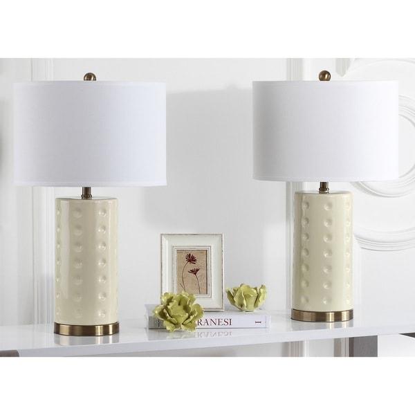 Safavieh Lighting 26-inch Cream Roxanne Table Lamp (Set of 2)