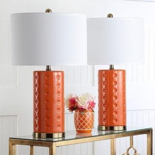 Safavieh Lighting Roxanne 26 Inch Orange Table Lamp (Set Of 2)