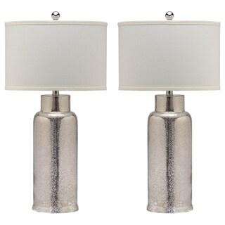 Safavieh Lighting 29-inch Bronze Bottle Glass Table Lamp (Set of 2)