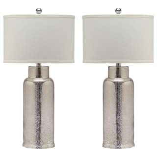 "Safavieh Lighting 29-inch Bronze Bottle Glass Table Lamp (Set of 2) - 15.5""x15.5""x29"""