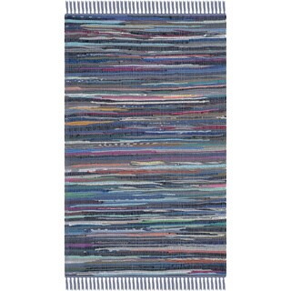 Safavieh Hand-woven Rag Rug Purple Cotton Rug (2' x 3')