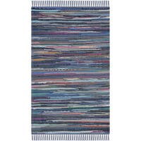 Safavieh Hand-woven Rag Rug Purple Cotton Rug - 2' X 3'