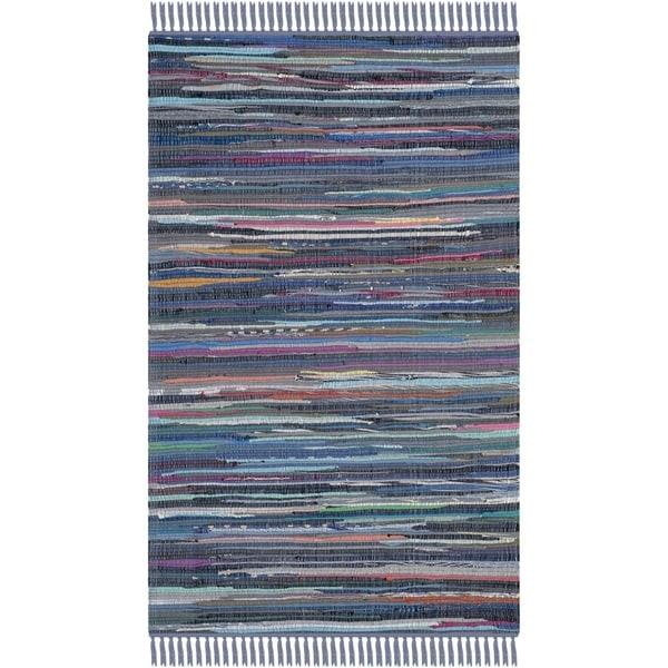 Shop Safavieh Hand-woven Rag Rug Purple Cotton Rug