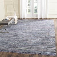 Safavieh Hand-woven Rag Rug Purple Cotton Rug - 6' Square