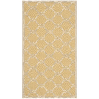 Safavieh Courtyard Moroccan Yellow/ Beige Indoor/ Outdoor Rug (2' x 3'7)