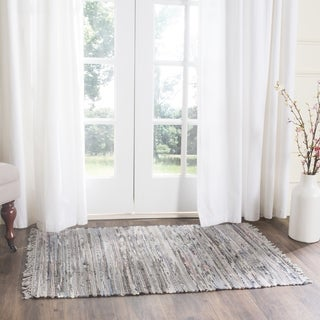Safavieh Hand-woven Rag Rug Grey Cotton Rug - 2' x 3'