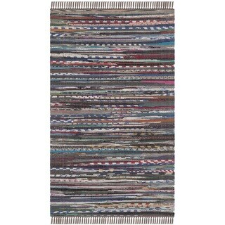 Safavieh Hand-woven Rag Rug Rust Cotton Rug (2' x 3')