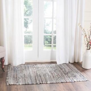 Safavieh Hand-woven Rag Rug Grey Cotton Rug (2'6 x 4')