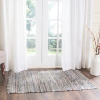 Safavieh Hand-woven Rag Rug Grey Cotton Rug - 2'6 x 4'