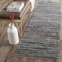"Safavieh Hand-woven Rag Rug Rust Cotton Rug - 2'6"" x 4'"