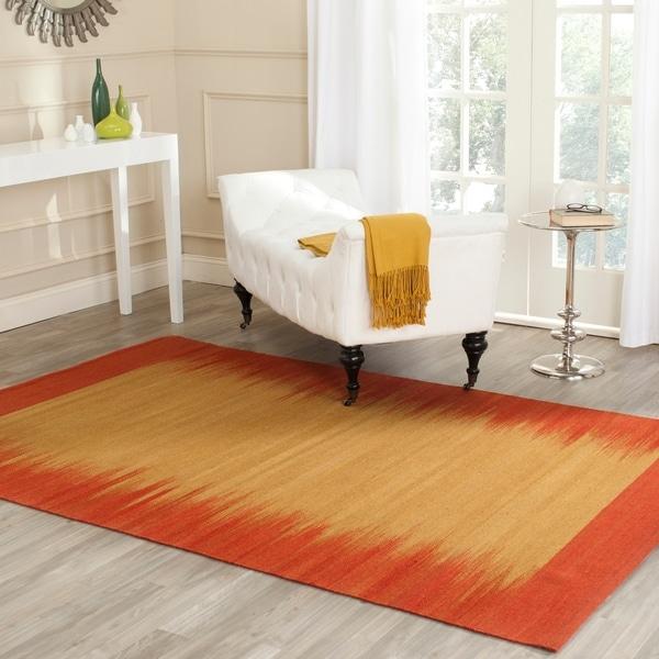 Safavieh Hand-knotted Kilim Rust Wool Rug - 8' x 10'