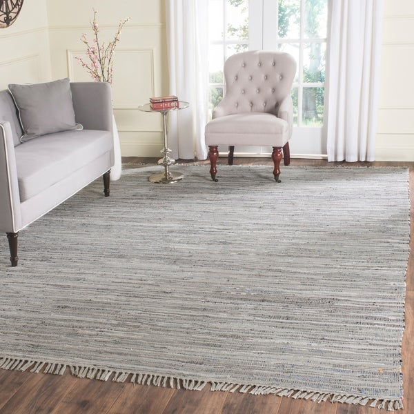 Safavieh Hand-woven Rag Rug Grey Cotton Rug - 8' x 10'