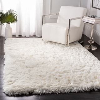 Link to Safavieh Handmade Artic Shag Guenevere Solid Polyester Rug Similar Items in Shag Rugs