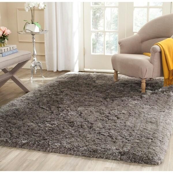 Safavieh Handmade Arctic Shag Grey Polyester Rug - 7'6 x 9'6