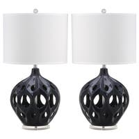 Safavieh Lighting 29-inch Navy Regina Ceramic Table Lamp