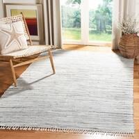 Safavieh Hand-woven Rag Rug Grey Cotton Rug - 5' x 8'