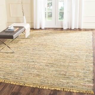 Safavieh Hand-woven Rag Rug Yellow Cotton Rug (9' x 12')|https://ak1.ostkcdn.com/images/products/9043202/P16240902.jpg?impolicy=medium