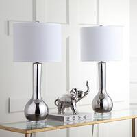 Safavieh Lighting Mae 30.5-inch Silver Long Neck Ceramic Table Lamp (Set of 2)