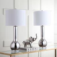 Safavieh Lighting Mae 30.5-inch Silver Long Neck Ceramic Table Lamp (Set of 2)