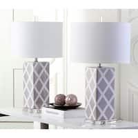 Safavieh Lighting 27-inch Grey Garden Lattice Table Lamp (Set of 2)