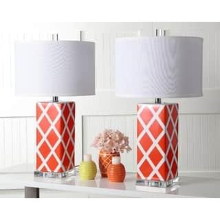 Safavieh Lighting 27-inch Orange Garden Lattice Table Lamp (Set of 2)|https://ak1.ostkcdn.com/images/products/9043254/P16240949.jpg?impolicy=medium