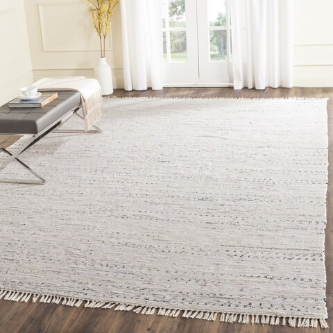 Safavieh Hand-woven Rag Rug White Cotton Rug - 6' Square