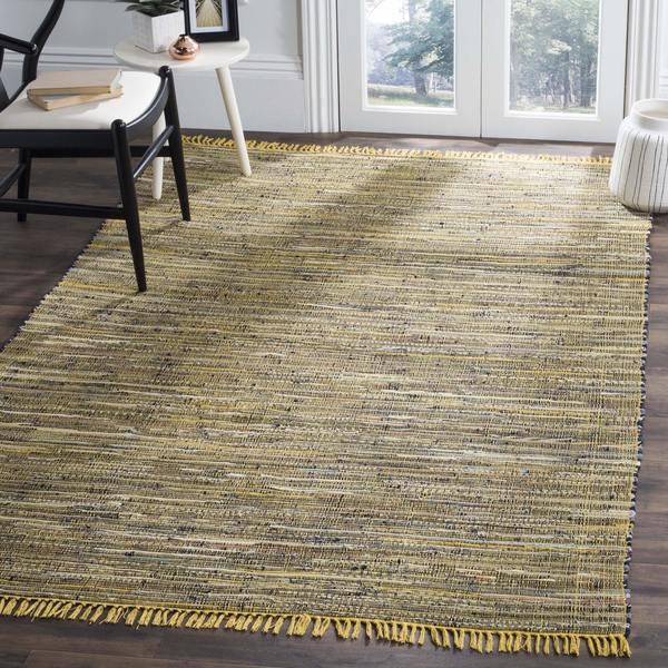 Safavieh Hand Woven Rag Rug Yellow Cotton 6 X27