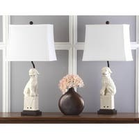Safavieh Lighting 28-inch Cream Foo Dog Table Lamp (Set of 2)