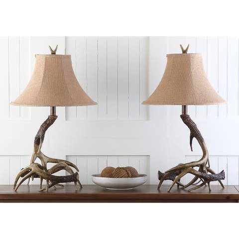 Safavieh Lighting 25-inch Sundance Faux Antler Brown Table Lamp (Set of 2)