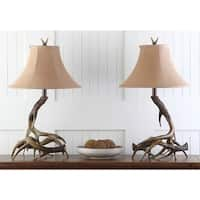 Safavieh Lighting Brown Driftwood 25-inch Table Lamps (Set of 2)