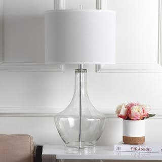 "Safavieh Lighting 35-inch Clear Mercury Glass LED Table Lamp - 16""x16""x34.5"""