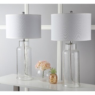 Safavieh Lighting 29-inch Clear Bottle Glass Table Lamp (Set of 2)