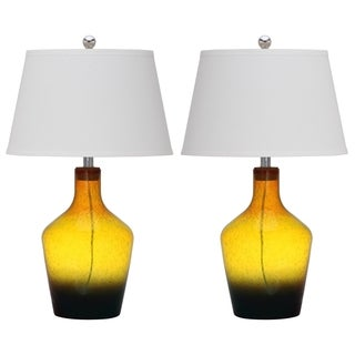 Safavieh Lighting 28-inch Gold Mulighti Antiquarian Glass Table Lamp (Set of 2)