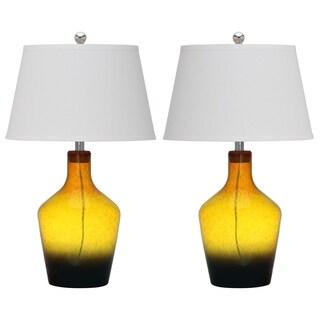 Safavieh Lighting 28-inch Gold Antiquarian Glass Table Lamp (Set of 2)