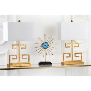 Safavieh Lighting 24-inch Gold Greek Key Table Lamp (Set of 2)