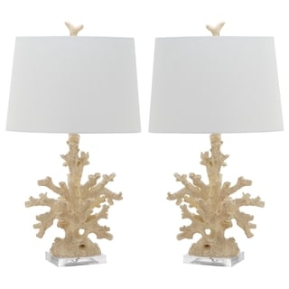 Safavieh Lighting 28-inch Cream Coral Branch Table Lamp (Set of 2)