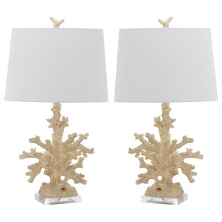Safavieh Lighting 28-inch Faux Coral Branch Cream Table Lamp (Set of 2)