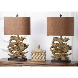 Safavieh Lighting 26.75-inch Brown Forester Table Lamp (Set of 2)