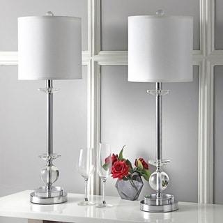 Safavieh Lighting 31-inch Crystal Marla Crystal Candlestick Lamp (Set of 2)