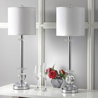 Safavieh Lighting 31-inch Crystal Marla Crystal Candlestick Lamp (Set of 2)