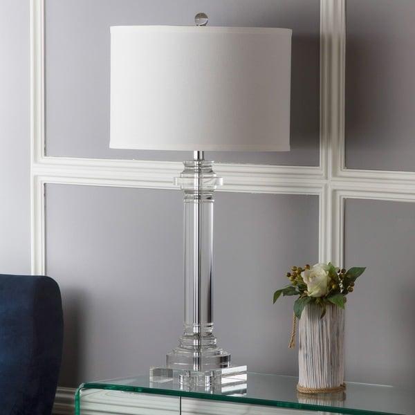 Safavieh Lighting Crystal Nina Crystal Column 30-inch Lamp