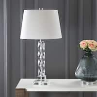 "Safavieh Lighting 27.5-inch Crystal Ice Palace Crystal Table Lamp - 15"" x 15"" x 27.5"""