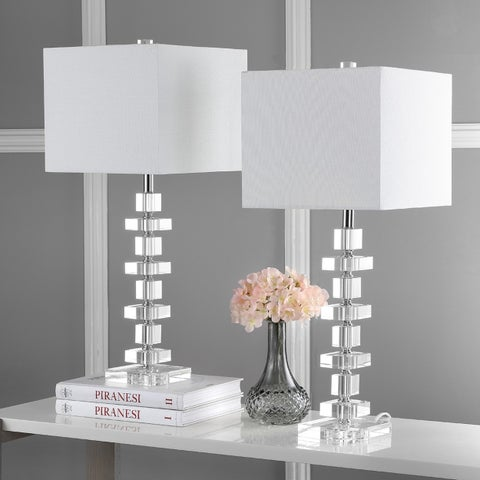Safavieh Lighting 28-inch Crystal Deco Crystal Table Lamp (Set of 2)
