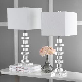 Safavieh Lighting 28-inch Crystal Deco Crystal Table Lamp (Set of 2)|https://ak1.ostkcdn.com/images/products/9043340/P16241027.jpg?impolicy=medium