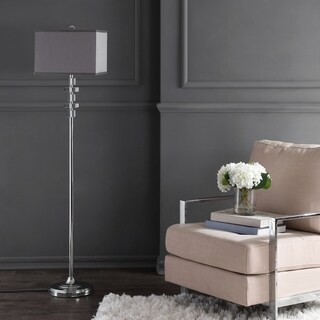 Safavieh Lighting Times Square Grey Metal/Crystal/Cotton 60.25-inch Floor Lamp